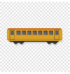 yellow passenger wagon icon cartoon style vector image