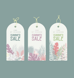 end of season summer hand drawn calligraphyc sale vector image vector image