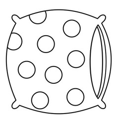 pillow icon outline style vector image