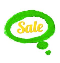 Speech banner sale paint water colour vector image