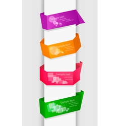 empty colorful paper tags vector image