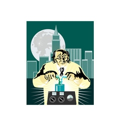 Mad Scientist City Background vector image vector image