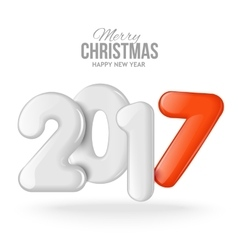 Merry Christmas and Happy New Year 2017 background vector image vector image