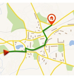 Navigation map with pin vector