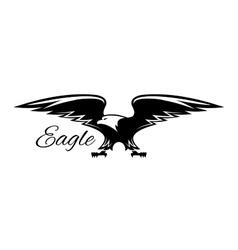 Black american eagle with spread wings icon vector