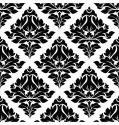 Floral arabesque pattern with a diamond motif vector image