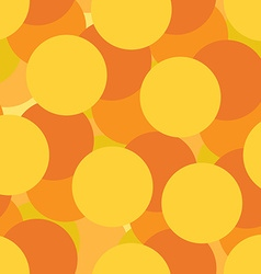 Golden circles seamless pattern vector image