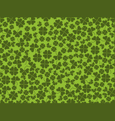 happy st patricks clover seamless pattern vector image vector image