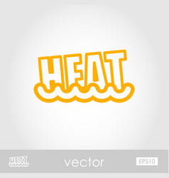 Heat outline icon summer vacation vector