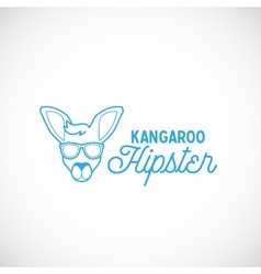 Line Style Abstract Kangaroo Hipster Face vector image