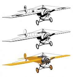 monoplane design vector image