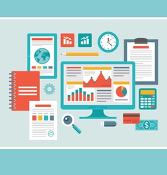 Flat Design - Business Icons for Presentati vector image vector image