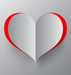 Heart Paper Cut vector image