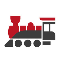 old style steam engine locomotive icon isolated on vector image