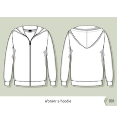 Women hoodie Template for design easily editable vector image vector image