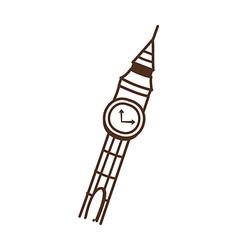 A clock tower vector