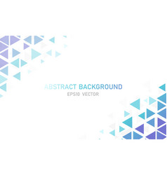 abstract modern triangle business background vector image