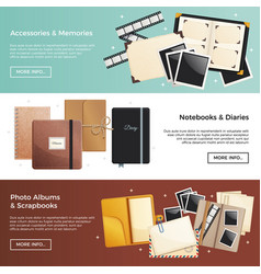 accessories and memories horizontal banners vector image