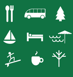 Active travel icon and symbol set free vector
