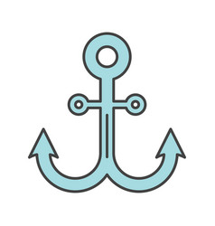 Anchor color icon vector