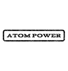 atom power watermark stamp vector image