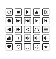 audio pack icon set simple elagant vector image