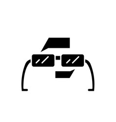 augmented reality glasses black icon sign vector image