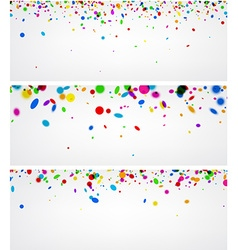 Banners with color confetti vector image