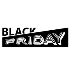 black friday text vector image