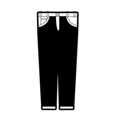 black sections silhouette of male pants vector image