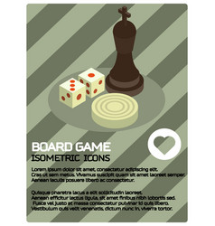 Board game color isometric poster vector