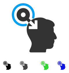 Brain interface plug-in flat icon vector