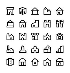 Building Icons 7 vector