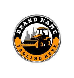 bulldozer logo template vector image