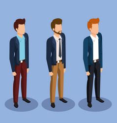 Business men isometric avatars vector