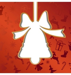 Christmas bell festive background vector image