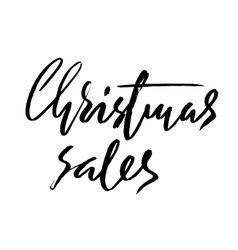 Christmas sales hand drawn lettering Handmade vector