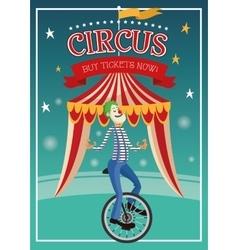 Clown cartoon of circus vector