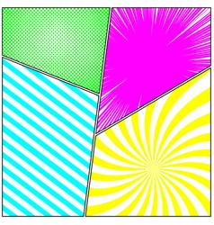 Comic vivid composition vector