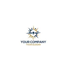 compass key community logo design vector image