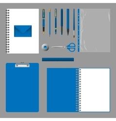 Corporate identity design empty elements template vector
