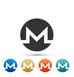 cryptocurrency coin monero xmr icon isolated vector image