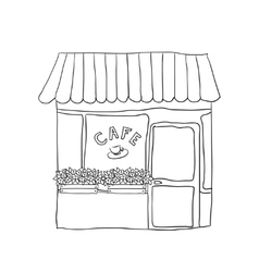 cute street cafe vector image