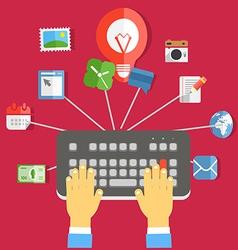 Digital media industry vector