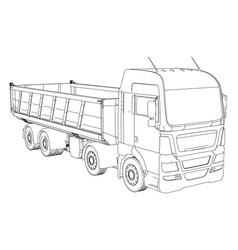 Dump truck created of 3d vector