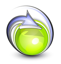 Eco button with arrows vector