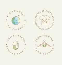 Eco friendly manufacturing fashion logo vector
