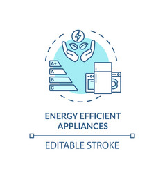 Energy efficient appliance turquoise concept icon vector