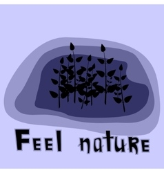 Feel Nature vector image