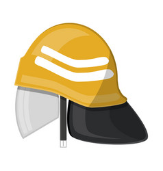 firefighter helmet fire equipment vector image